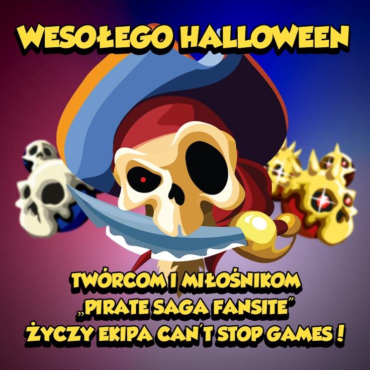 Otrzymaliśmy życzenia Wesołego Halloween od Can't Stop Games :) Dziękujemy! #piratessaga #cantstopgames