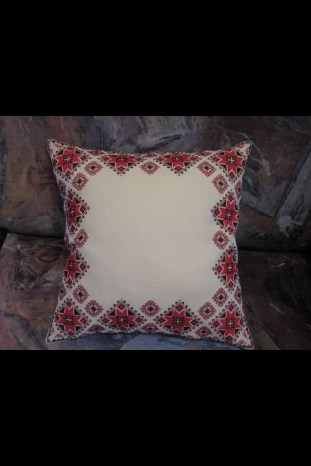 Ukrainian embroidered pillow - found in every Ukrainian home.