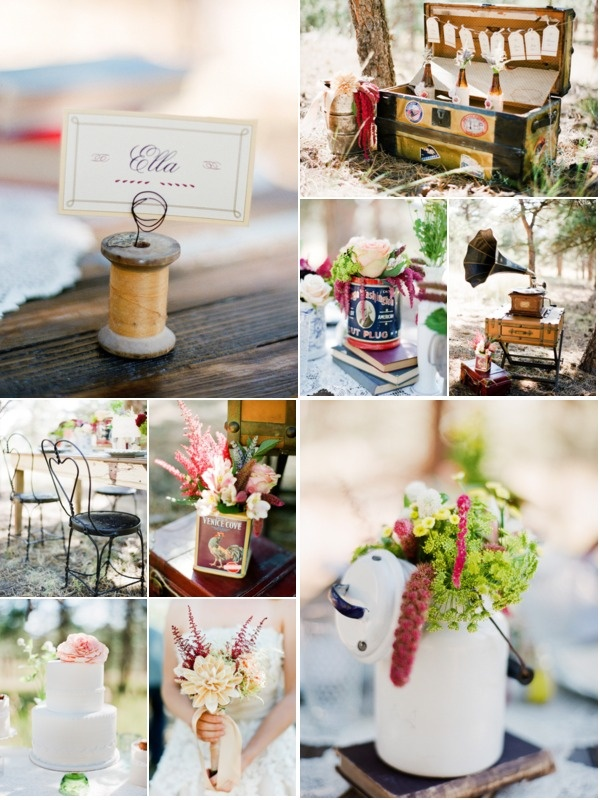 We'd love to know ~ are you planning (or did you have) a vintage inspired wedding? Does your home reflect your love of vintage or antique things? Images from styled shoot on Style Me Pretty ~ Photography by Kelli Hunt Photography (click on the pic for more ;)  @Lauren VonEper - Thought you'd like this!