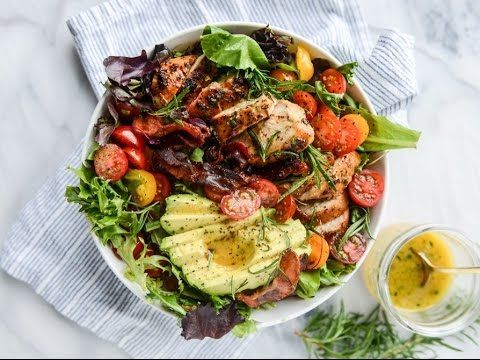 Rosemary Chicken, Bacon and Avocado Salad. {Video!} | How Sweet It Is