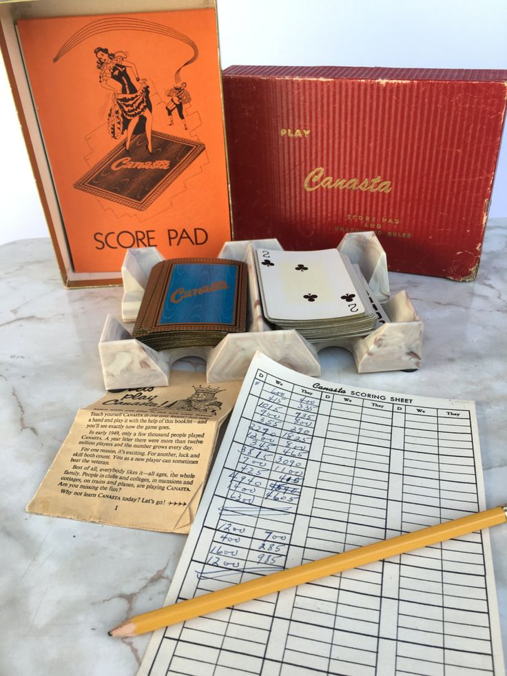 Vintage Canasta Game by HollyWouldFind on Etsy