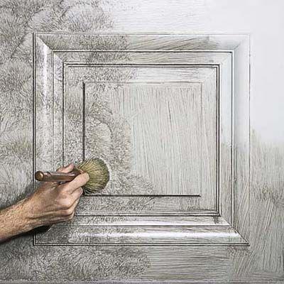 Decorative Painting Techniques:   Strie  Strie mimics centuries-old painted woodwork