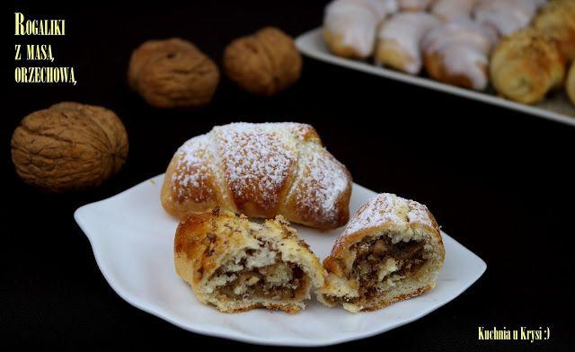 Kuchnia u Krysi  : Mini rogaliki z masą orzechową