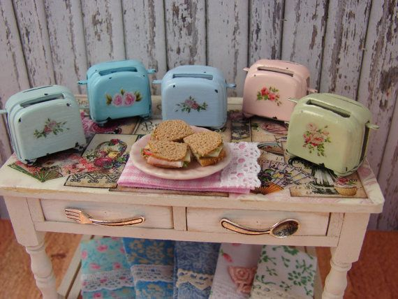 Dollhouse Miniature Shabby Chic Farmhouse by IttyBittyAndCute, $13.95