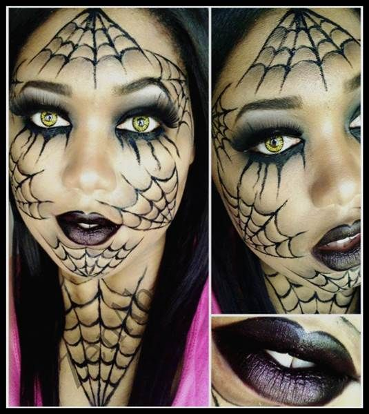 You can go as spider webs this Halloween with this makeup tutorial.