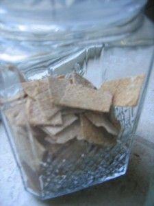 homemade crackers wheat thins