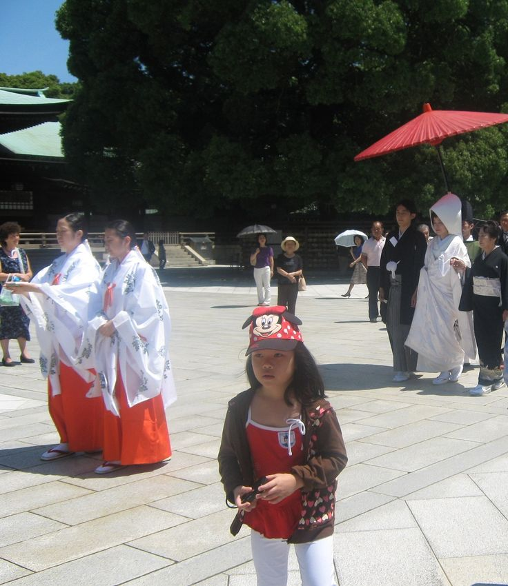 Traditional Japanese wedding in Meiji Shrine, Tokyo