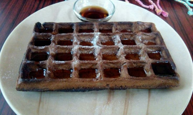 #Chocolate #waffle with #honey