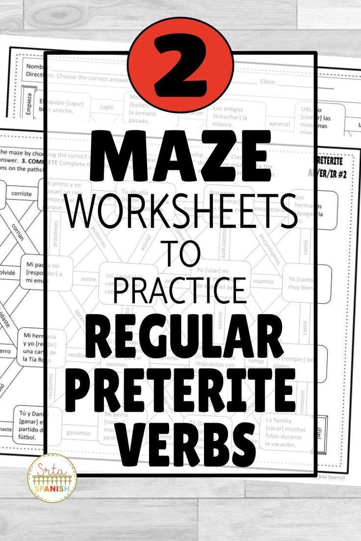 Spanish Preterite Regular Ar Er Ir Verbs Maze Practice Activity With Digital Spanish Lesson Plans High School Spanish Middle School Spanish [ 1104 x 736 Pixel ]