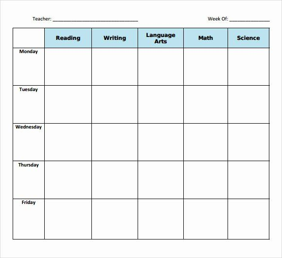 Free Daily Lesson Plan Template New Printable Lesson Plan Book Pages Blank Lesson Plan Template Weekly Lesson Plan Template Printable Lesson Plans