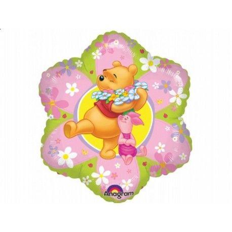 """Prosto z USA Foliowy Balon Kubuś Puchatek razem z prosiaczkiem na kwiatowym tle - 15"""" około 38cm Napełniony Helem w kształcie kwiatka .  Cena dotyczy balonu napełnionego helem. Do każdego balonu dołączamy wstążkę.  Tylko odbiór Osobisty!!!  http://www.niczchin.pl/balony-foliowe-postacie-z-bajek/2872-kubus-puchatek-15-balon-foliowy-napelniony-helem.html  #balonzhelem #balonyhelowe #balony #kubuspuchatek #niczchin #krakow"""