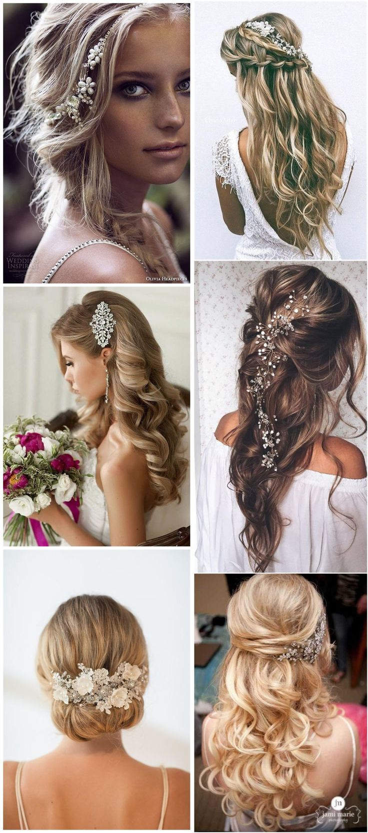 238 best bridal beaded hair accessories images on pinterest | hair