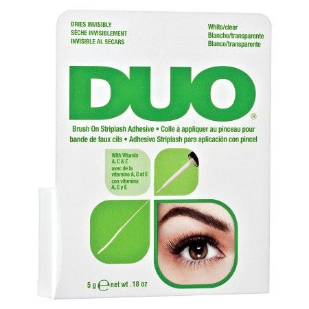 Duo Brush On Striplash Adhesive Dries Invisibly White/Clear .18 Ounce