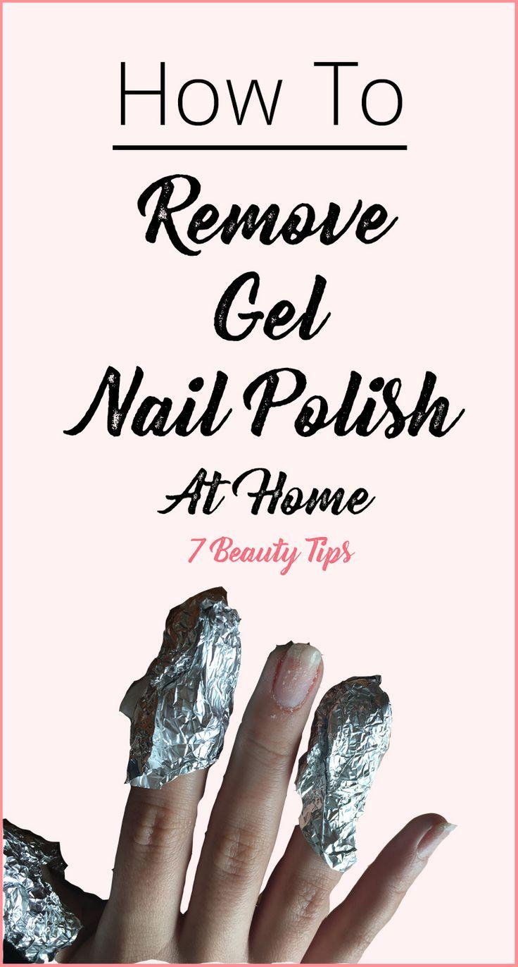Remove gel nail polish at home @7beautytips