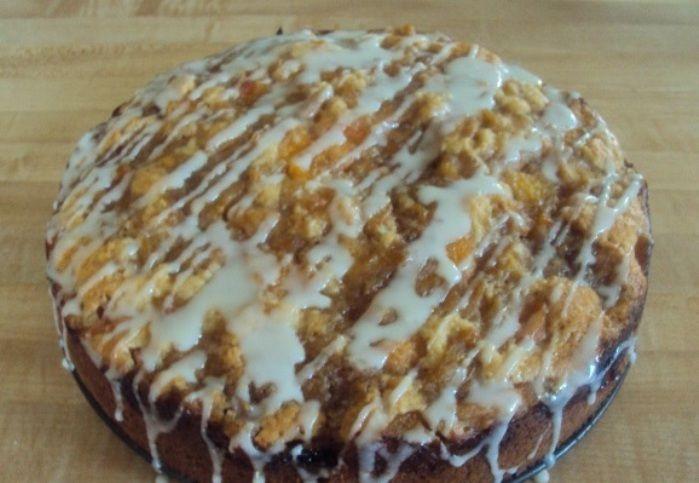 Mennyei vaníliás-barackos torta. Tökéletes az ízkombináció