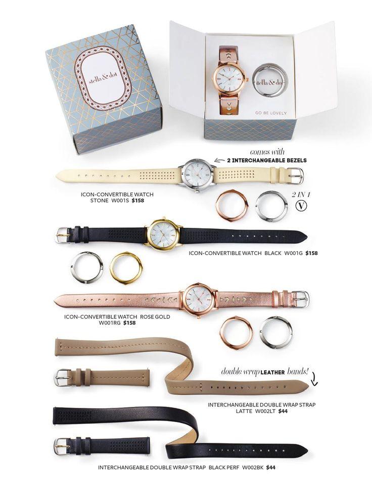 NOUVELLES MONTRES CONVERTIBLES ICÔNE..... cadran interchangeable, argent, doré ou or rosé #stelladot #stelladotstyle #stellaanddot #montre #watch