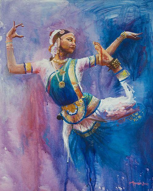 Bharatanatyam Dancer by Annelie Solis