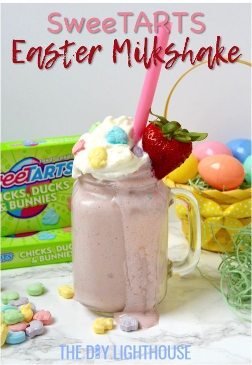 SweeTARTS Easter Milkshake recipe | Sweet and tangy ice cream dessert that you want to try | Plus, a quick and easy Easter dinner menu for the family | #SpringItOn #NestleKitchen #CollectiveBias #food #ad