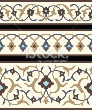 Agra Floral Borders Royalty Free Stock Vector Art Illustration