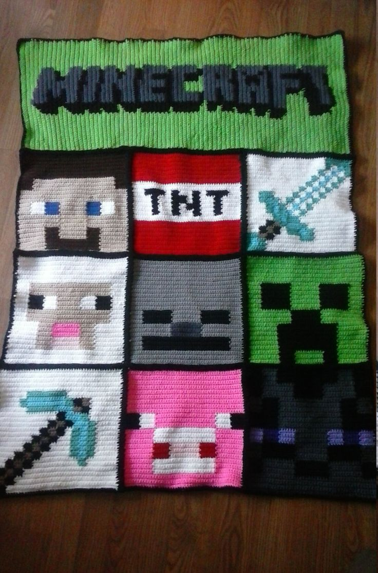 minecraft character blanket by WendysKnitWits on Etsy ...