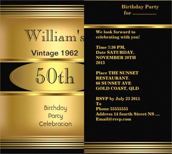 Editable 50th Birthday Party Invitation Template Cheers To 50 Etsy 90th Birthday Invitations Party Invite Template Birthday Party Invitation Templates