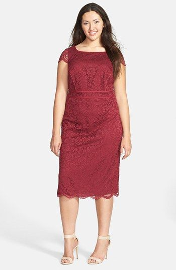 ABS by Allen Schwartz Lace Sheath Dress (Plus Size) available at #Nordstrom
