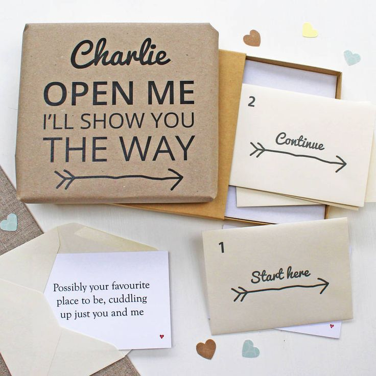 Scavenger hunt proposal??  www.notonthehighstreet.com // $27 Personalized Couple's Treasure Hunt