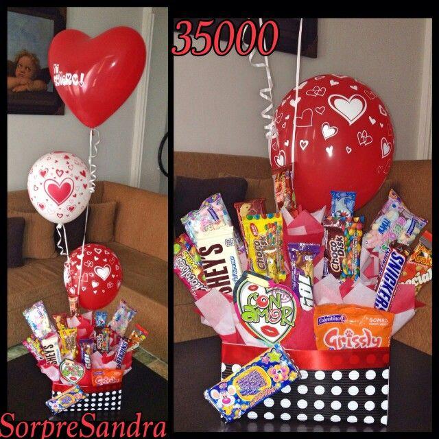 Caja De Dulces Sorpresandra Pinterest Candy Bouquet Ideas Para And Basket Ideas