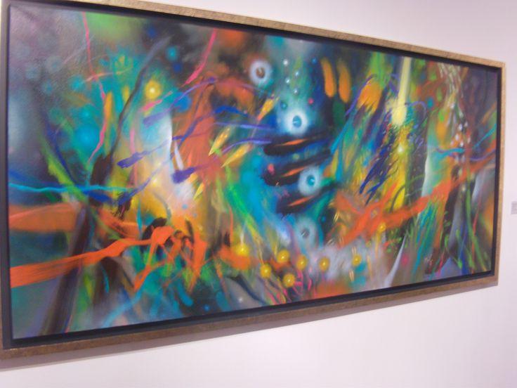 La exposición fue curada por el crítico de arte Álvaro Medina, quien es además muy buen amigo del pintor.