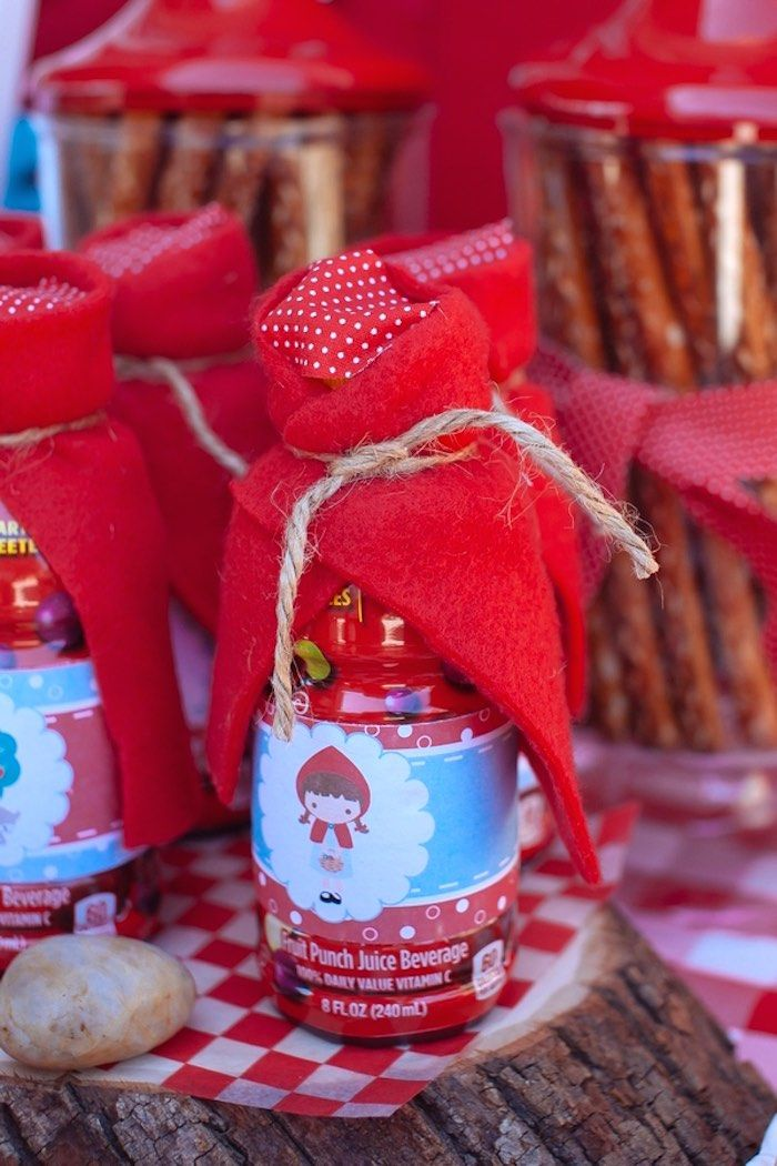 Drinks from a Little Red Riding Hood Picnic Party via Kara's Party Ideas | KarasPartyIdeas.com (22)