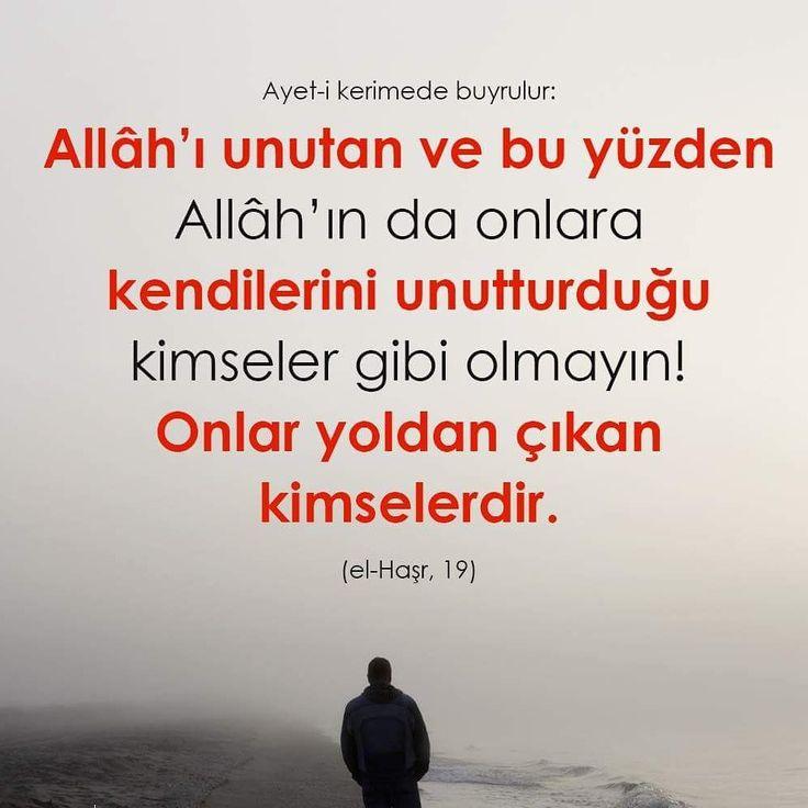 Allah'ı unutup da Allah'ın da kendilerini unutturduğu kimseler gibi olmayın onlar, yoldan çıkan kimselerdir.   @ilmisuffa  #ayetler #islam #müslüman #yol #ilmisuffa