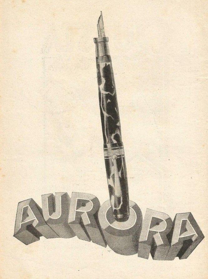 Vintage Italian Posters - Italy. The Aurora Superba fountain pen www.italianways.com/the-aurora-superba-mightier-than-a-sword/