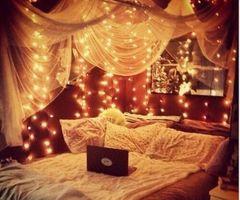 die besten 25+ mädchen schlafzimmer baldachin ideen auf pinterest - Schlafzimmer Deko Lichterkette