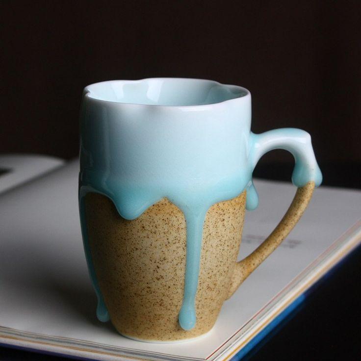 Best 25 ceramic mugs ideas on pinterest ceramica for Blue mug designs