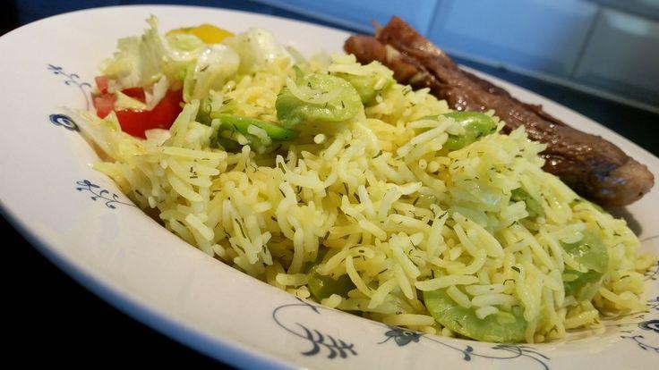 Timman Bagilla- Irakiskt ris med dill och bönor