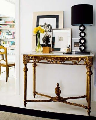 eclectic entryway. The Art of Display