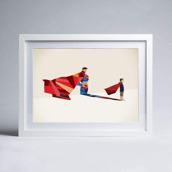 Jason Ratliff - Walking Shadow - Superman - Framed print