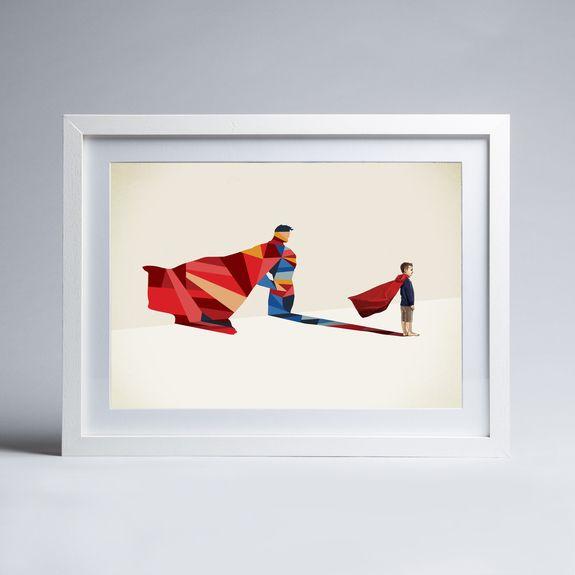 Jason Ratliff - Walking Shadow - Superman - Framed print