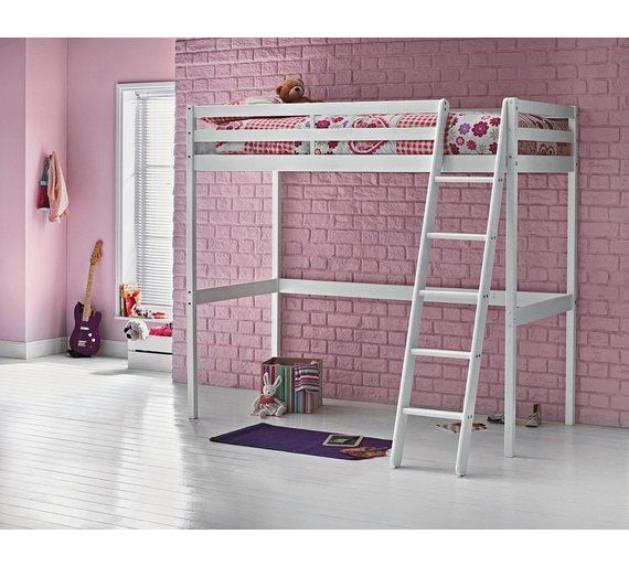 Buy HOME Kaycie Wooden High Sleeper Single Bed Frame - White at Argos.co.uk, visit Argos.co.uk to shop online for Children's beds, Children's furniture, Home and garden