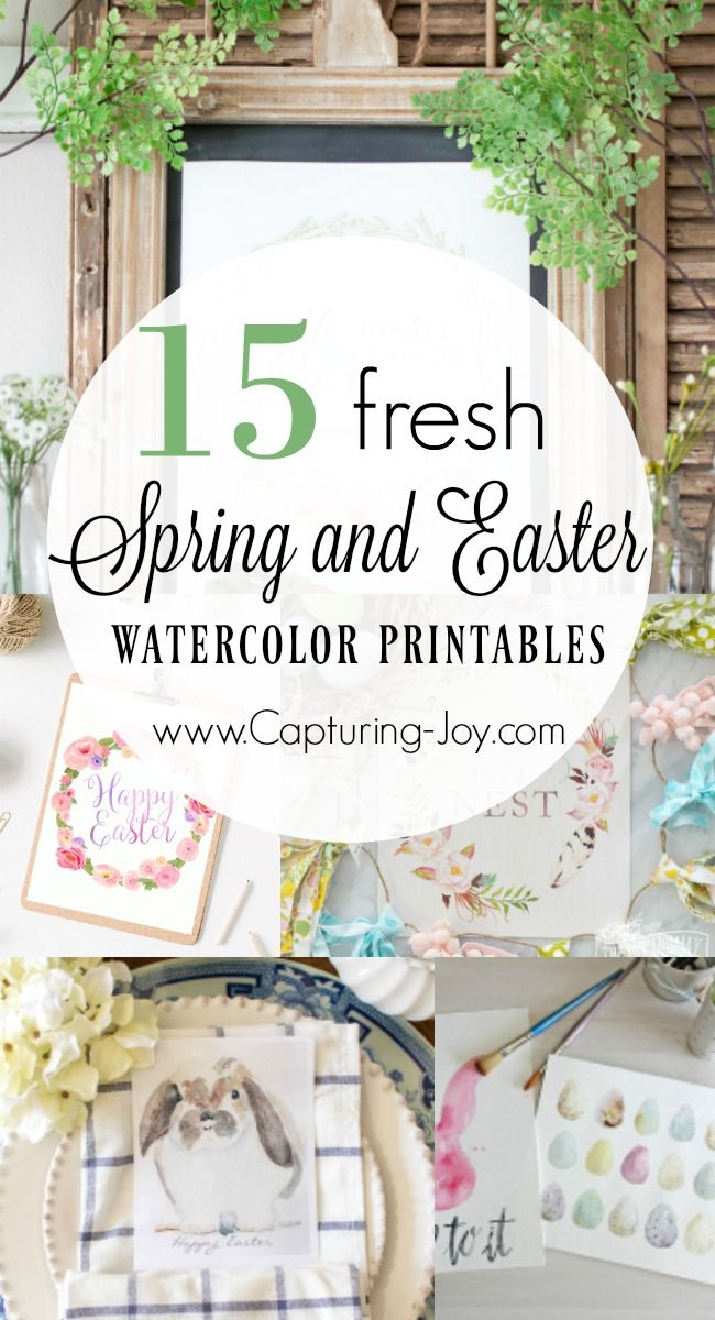 15 Fresh Spring Watercolor Printables for Spring and Easter. Perfect for your Spring Home Decor! www.kristenduke.com