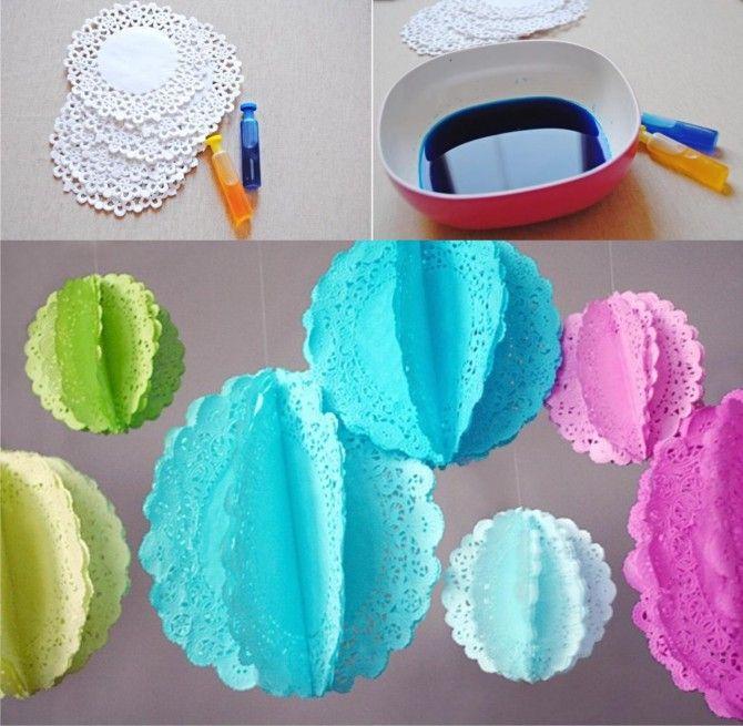 decoracion papel fiestas DIY muy ingenioso