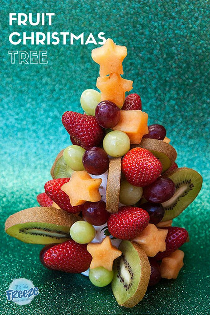 Fruit Christmas Tree by The Big Freeze - your kids will love making and EATING this fun Christmas activity.