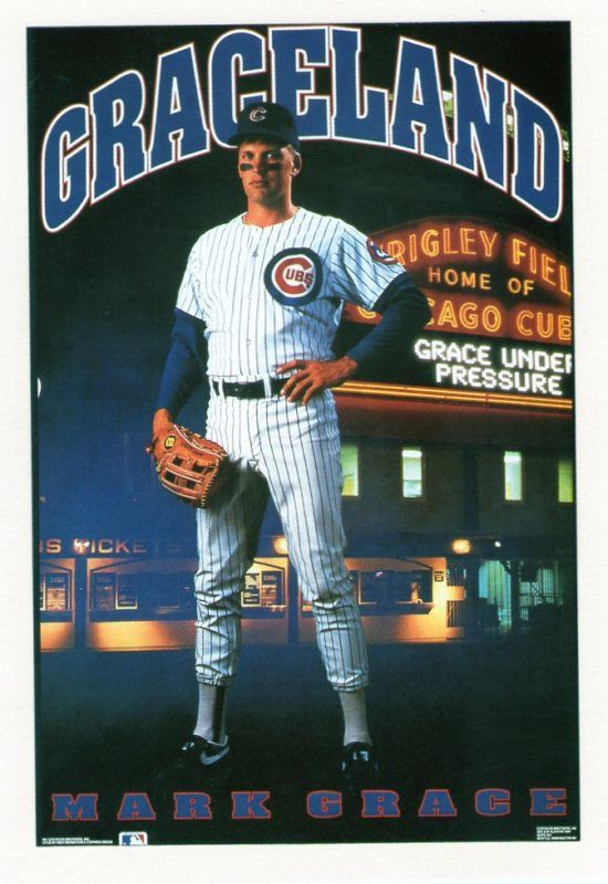Mark Grace.  Design by the Costacos Brothers.