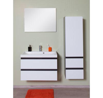 Badkamermeubel Dion (zwart): wastafel: 80 cm Ook beschikbaar in wit.
