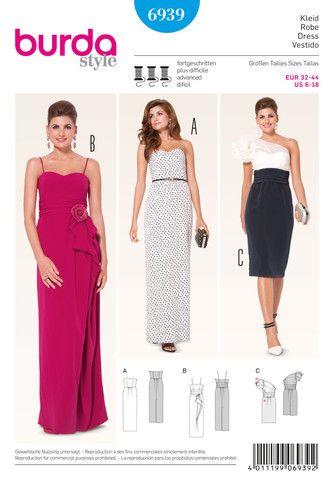 Superb Misses Evening Dress Burda Sewing Pattern No