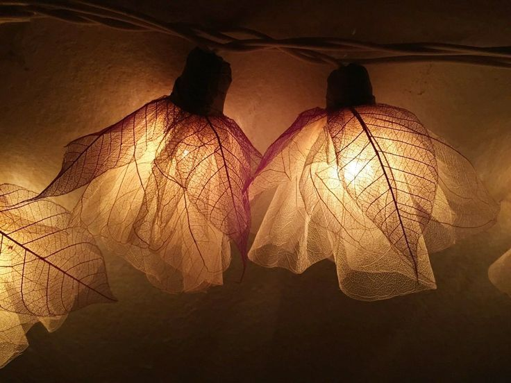 GaanZaLive36 Magical Garden Handmade 20 Romantic Natural Bodhi Leaf Flower Fairy String Lights Patio Wedding Party Vanity Kid Wall Lamp Floral Home Decor 3m (Carnation, White, Battery Operated)