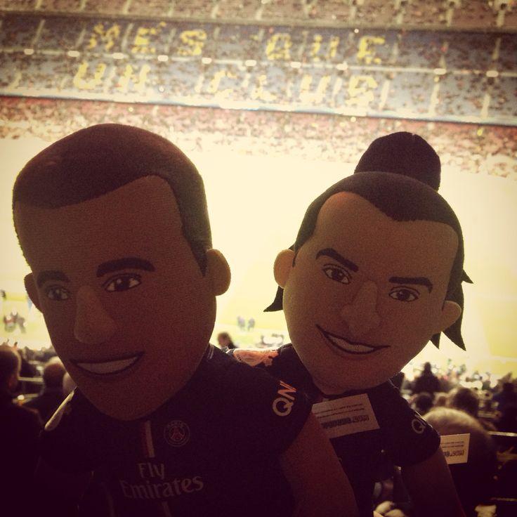 Poupluche Zlatan et Lucas au Camp Nou