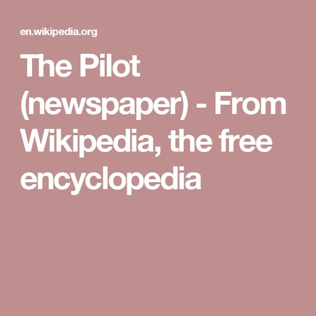 The Pilot (newspaper) -  From Wikipedia, the free encyclopedia