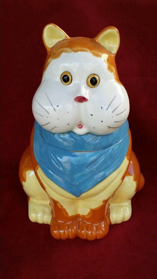 Ideal 199 best Cat Cookie Jars images on Pinterest | Cat cookies, Cookie  VV51