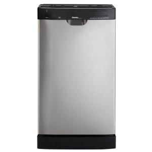 Danby 18 in. Front Control Dishwasher in Stainless Steel-DDW1899BLS at The Home Depot